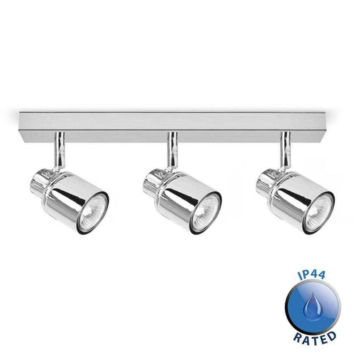 Benton IP44 3 Way Bar Spotlight Chrome