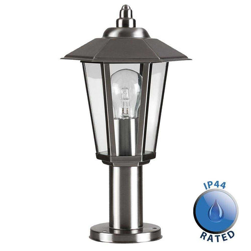 Mottram IP44 Stainless Steel Outdoor Post Top Lantern Light