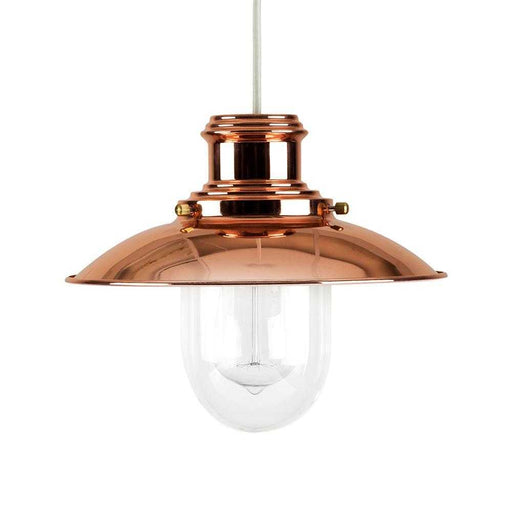 Ukai Polished Copper Fishermans Non Electric Pendant
