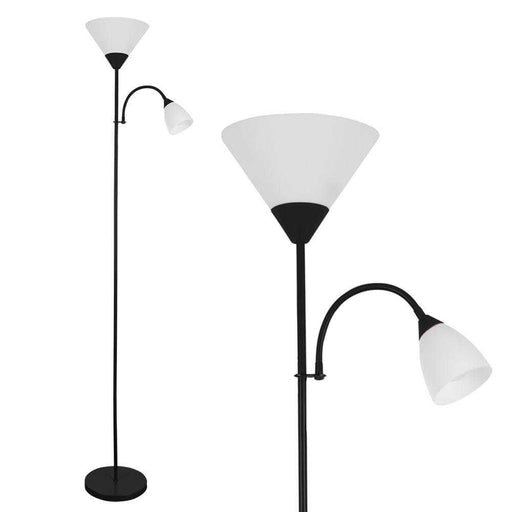 Mozz Gloss Black Mother & Child Floor Lamp