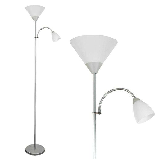 Mozz Metallic Silver Mother & Child Floor Lamp