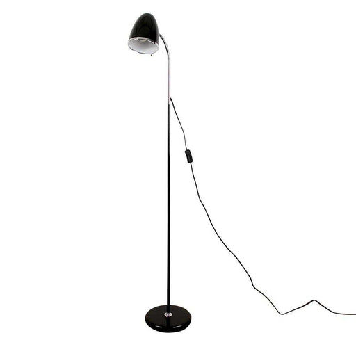 Kuppel Black Flexi Neck Floor Lamp
