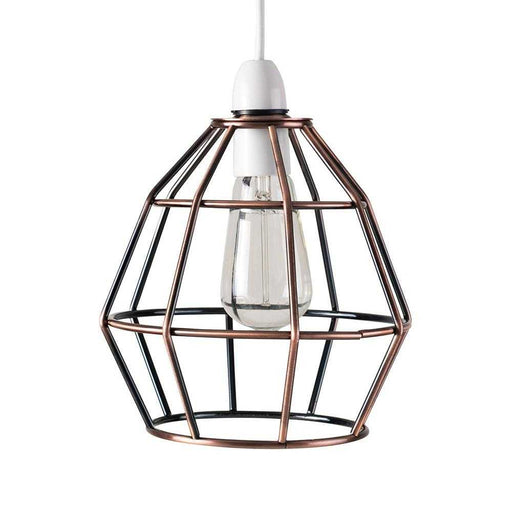 Angus Non Electric Brushed Copper Basket Pendant Shade