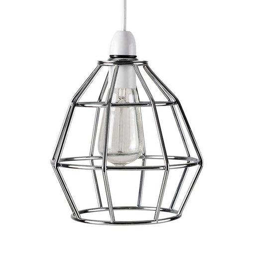 Angus Non Electric Polished Chrome Basket Pendant Shade