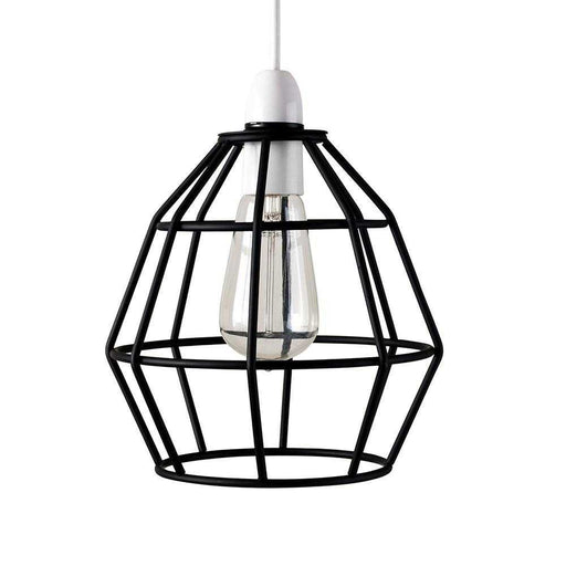 Angus Non Electric Satin Black Basket Pendant Shade