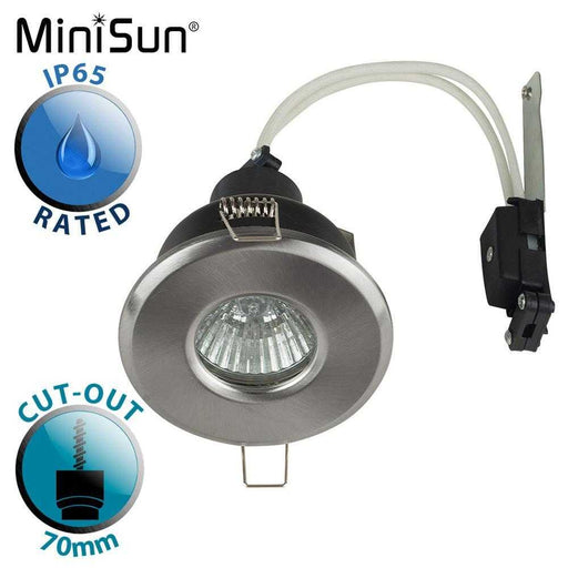 IP65 GU10 Bathroom Downlight Satin Nickel