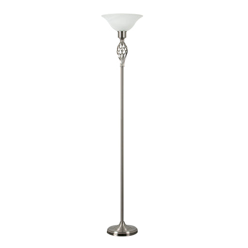 Memphis Twist Satin Nickel Uplighter Floor Lamp