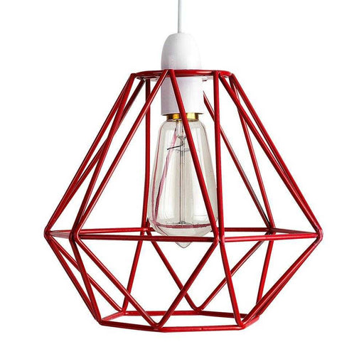 Diablo Red Wire Frame Non Electric Pendant Shade
