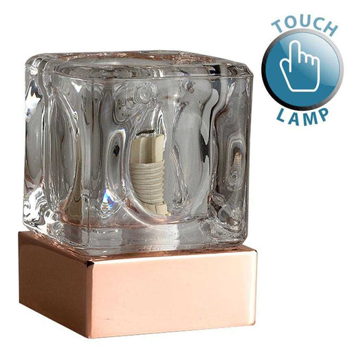 Copper Ice Cube Touch Table Lamp
