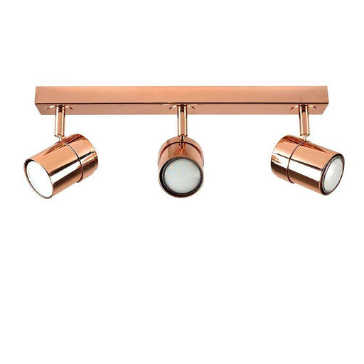 Rosie 3 Way Straight Bar Spot Light Copper