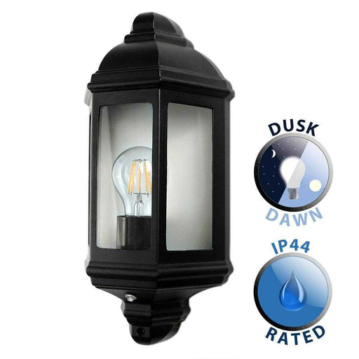 IP44 Wiltshire Outdoor Wall Dusk Till Dawn Lantern Aluminium