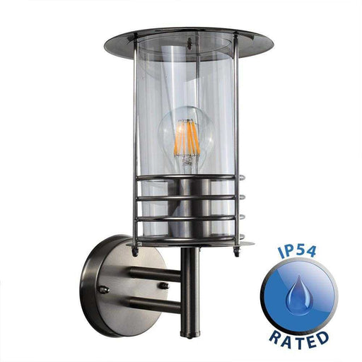 IP44 Dorset Outdoor Wall Lantern Stainless Steel
