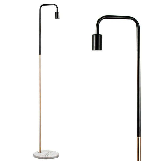 Talisman Black & Copper Floor Lamp White Marble Base