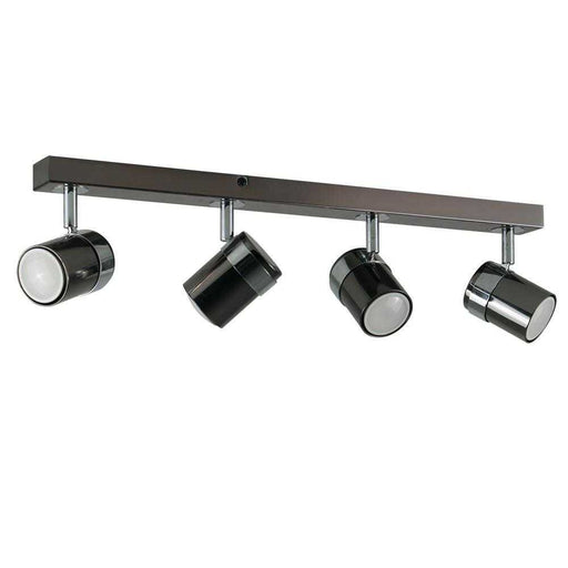 Rosie 4 Way Straight Bar Spot Light Black Chrome Chrome