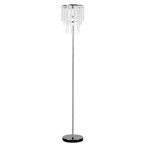 Bronte Floor Lamp With Clear Acrylic Droplet Shade