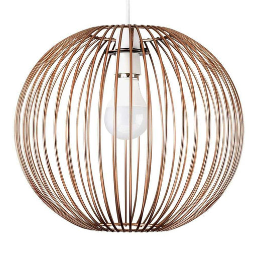 Faraday Non Electric Painted Copper Basket Pendant Shade