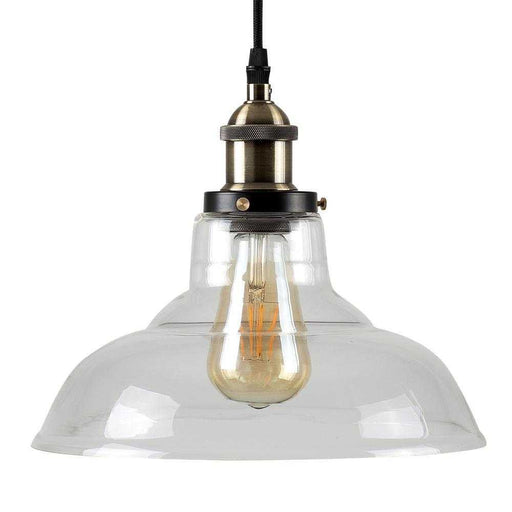 Wallace Steampunk Electric Pendant Clear Glass Shade