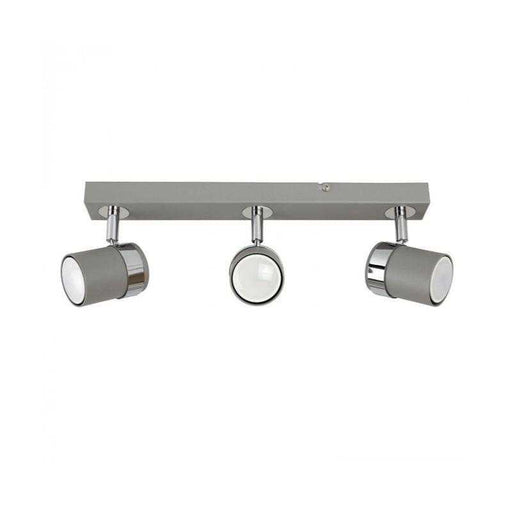 Rosie 3 Way Straight Bar Spot Light Cement / Chrome