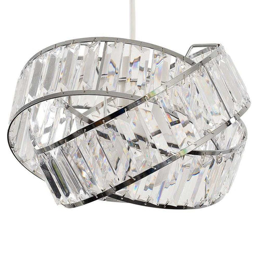 Hudson Intertwined Non Electric Pendant Chrome / Clear