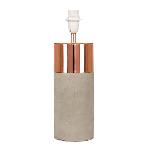 Finley Poly Resin Cement Effect Copper Table Lamp (BASE ONL)