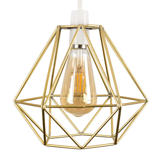 Diablo Gold Painted Wire Frame Non Electric Pendant Shade