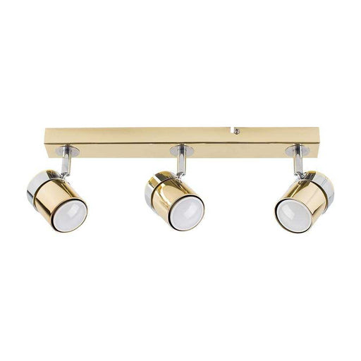 Rosie 3 Way Straight Bar Spot Light Chrome / Gold