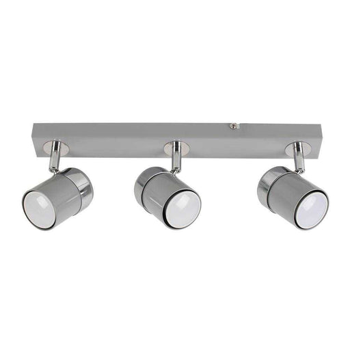 Rosie 3 Way Straight Bar Spot Light Chrome / Grey