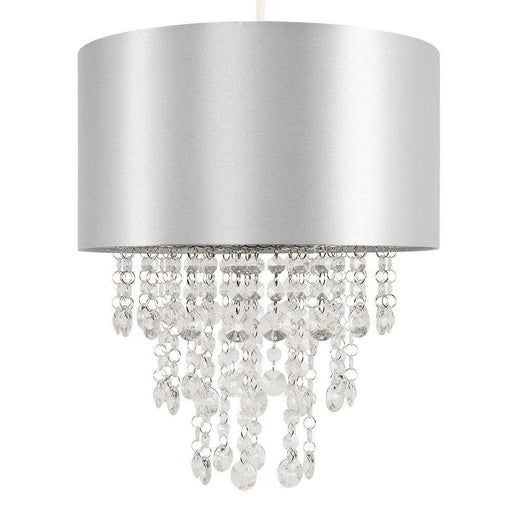 Jesmond Grey NE Pendant Shade Clear Droplets