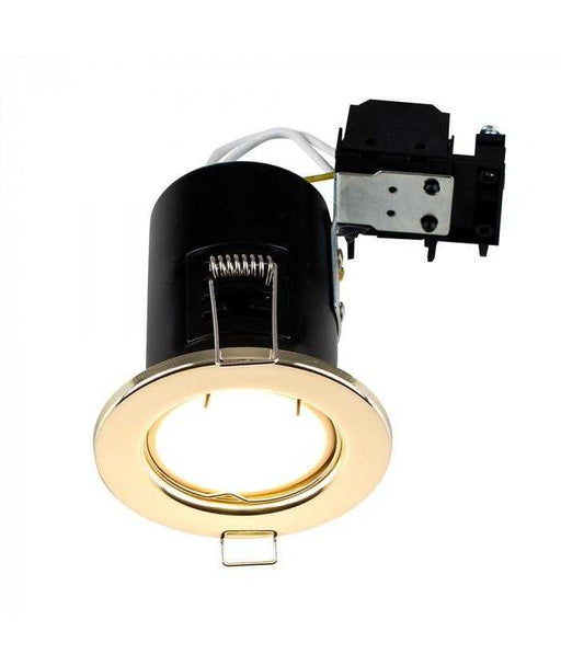 Fire Rated GU10 Downlight Gold NO BULB