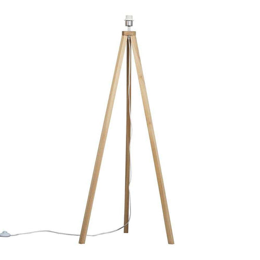 Barbro Light Wood Tripod Floor Lamp (NO SHADE)