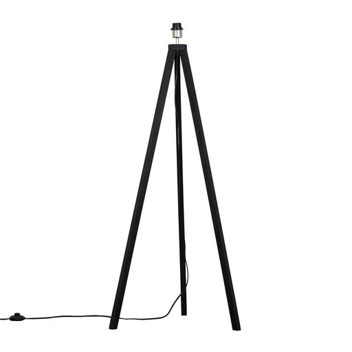 Barbro Black Wood Tripod Floor Lamp (NO SHADE)
