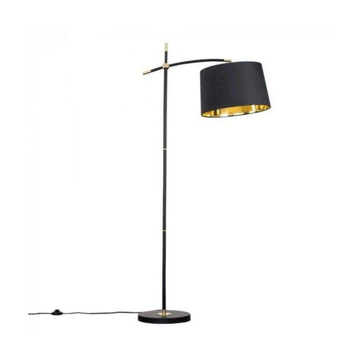 ICONIC Hensley Black / Brass Floor Lamp