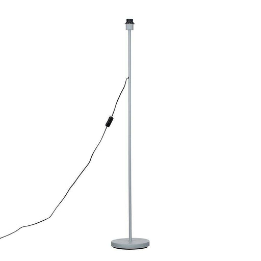 Charlie Grey Painted Modern Stem Floor Lamp (NO SHADE)