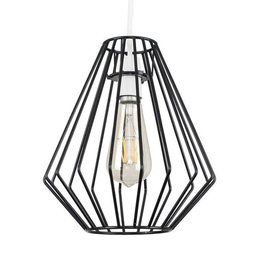 Fordyce Non Electric Satin Black Basket Pendant Shade