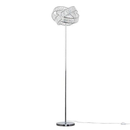 Hudson Intertwined Floor Lamp Chrome / Clear