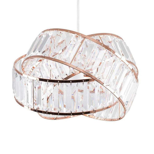 Hudson Intertwined Non Electric Pendant Copper / Clear