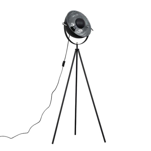 Morpho Tripod Floor Lamp Grey with Silver Inner Shade