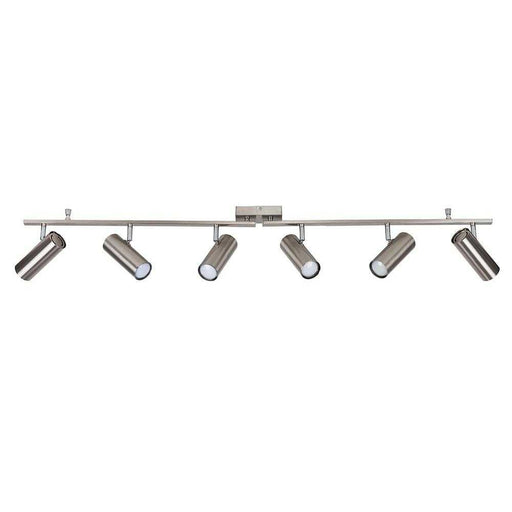Barrista 6 Way KD Straight Bar SpotLight Satin Nickel Chrome