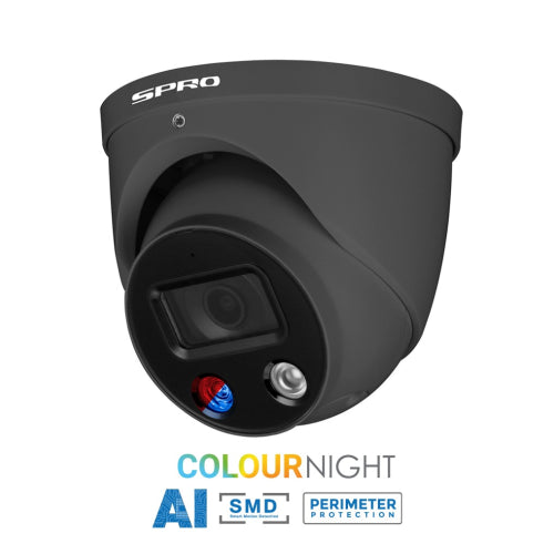 SPRO 5MP IP Active Deterrence Camera Grey
