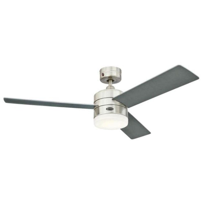122 cm Alta Vista, Stainless Steel, LED, 3 Reversible Blades, Indoor, Remote Control Included