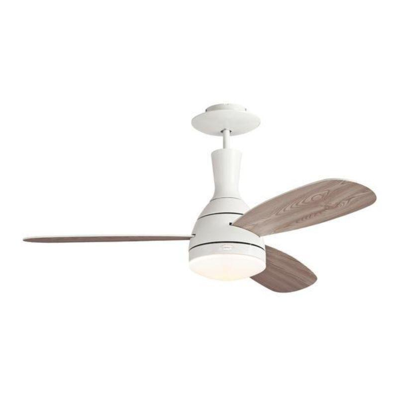 122 cm Cumulus, White, 3 Reversible Blades, Remote Control Included
