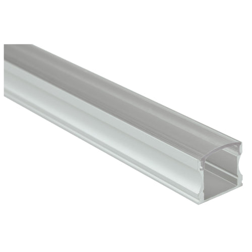Aluminium LED Tape Profile 1M - Tall Crown - Transparent Capping