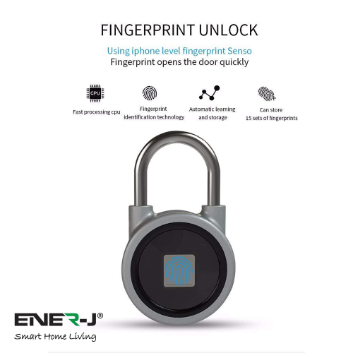 Smart Bluetooth Fingerprint Padlock | West Midland Electrics