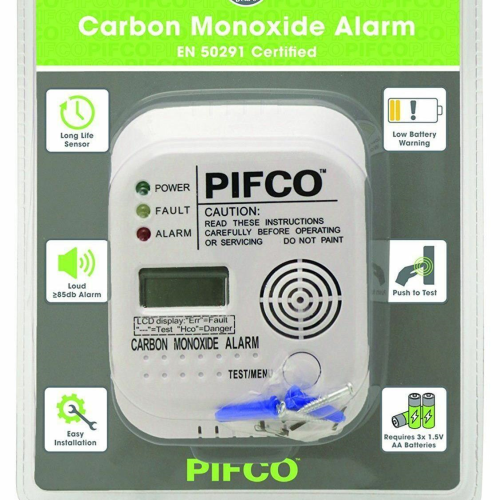 PIFCO Carbon Monoxide Alarm (Battery Operated)