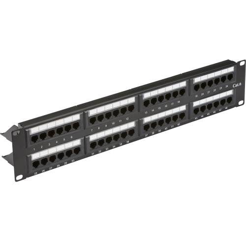 "19"" 2U 48-port UTP CAT6 patch panel"