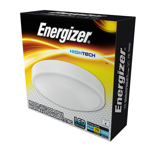Energizer Indoor/Outdoor IP44 Microwave Sensor Fitting