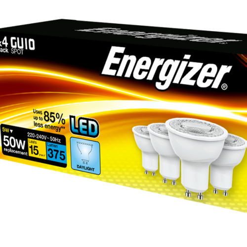 Energizer GU10 5W Pack of 4 LED Daylight