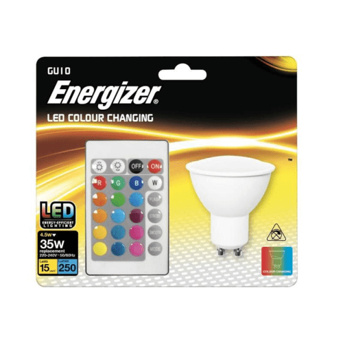 GU10 LED RGB with Remote 250lm Energizer