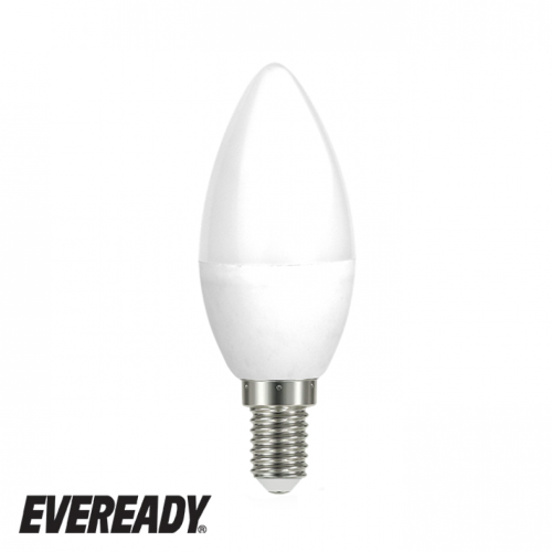 Eveready 6W Led Candle 480Lm Opal E14 Daylight Boxed S13617 | West Midland Electrics