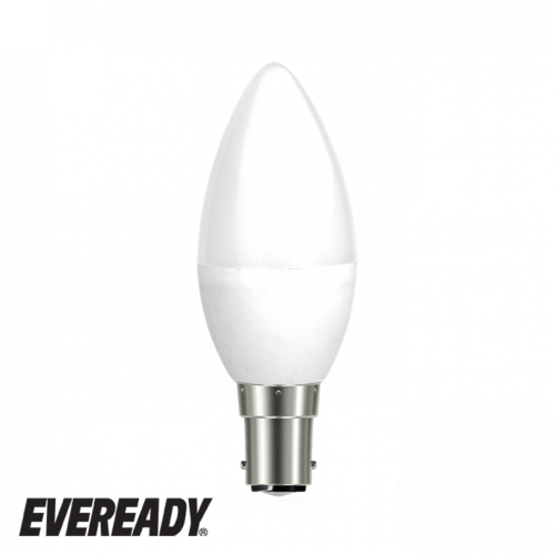 Eveready 6W LED Candle 480Lm Opal B15 Daylight Boxed S13613 | West Midland Electrics